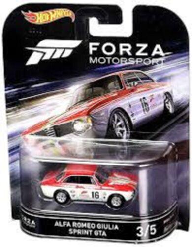 2016 Hot Wheels Forza Motorsport Alfa Romeo Giulia Sprint GTA Retro Ent Car