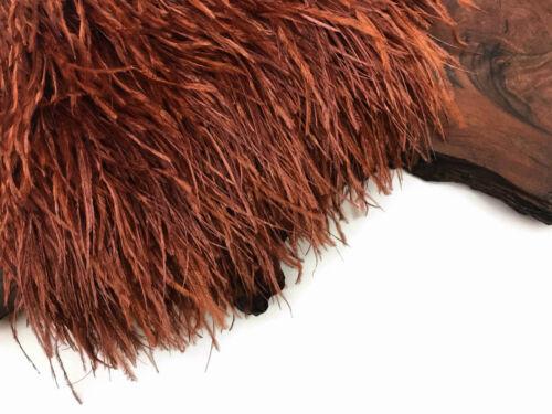 10 Yards Brown Ostrich Fringe Trim Wholesale Feather Craft Prom Dress Supplier