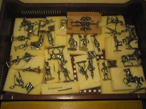 Cbg Mignot Lot De 56 Pieces Soldats Cheveaux Canons Charettes Brut Peinture
