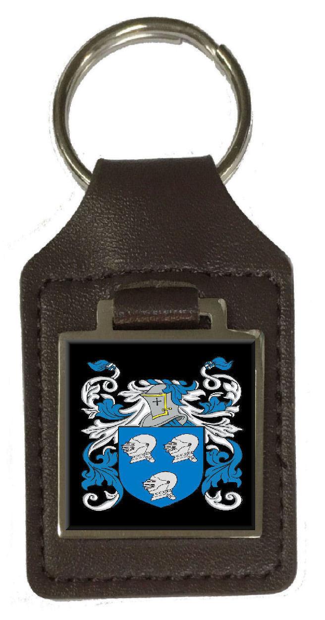 O'Hara Familie Wappen Wappen Wappen Familienname Braunes Leder Schlüsselanhänger Graviert   Großer Räumungsverkauf  031492
