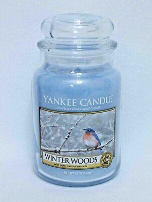 "2 22 oz Yankee Candle, Jars /""Winter Woods/"""