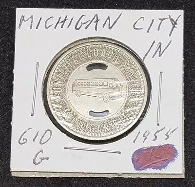 New Albany Indiana Home Transit Bus Token From My Collection 1955 whotoldya
