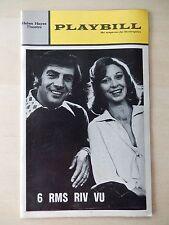 October 1972 - Helen Hayes Theatre Playbill - 6 Rms Riv Vu - Jerry Orbach