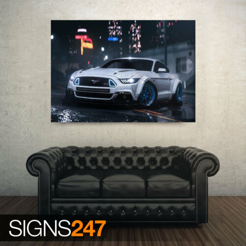 FORD MUSTANG Photo Picture Poster Print Art A0 A1 A2 A3 A4 AA118 CAR POSTER