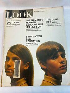 Look-Magazine-Vintage-September-9-1969-Stalin-039-s-Daughter-Joe-Namath-039-s-Mother