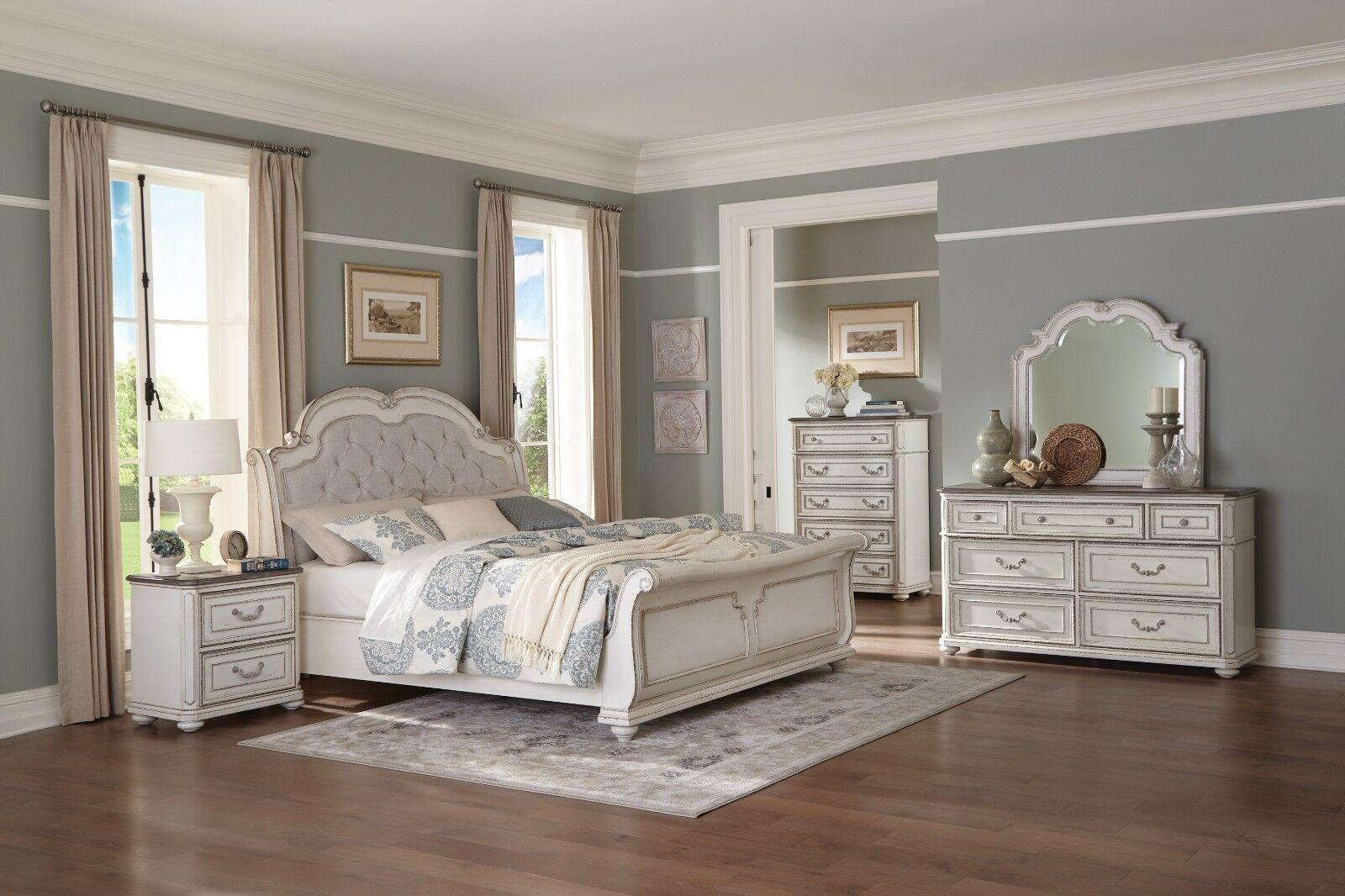 Euclid Contemporary Espresso 4pc Bedroom Set Queen Bed Dresser Mirror Nightstand For Sale Online Ebay