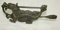 Rare chinese old style bronze Dragon lock and key
