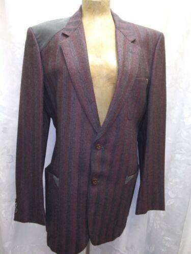 Vintage 1960's Dark Purple Brown Alpaca Men's Blaz