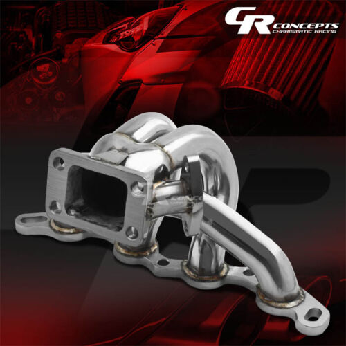 FOR 85-89 MR2//-91 COROLLA AE86 4A-GE T3 STAINLESS RACING TURBO CHARGER MANIFOLD