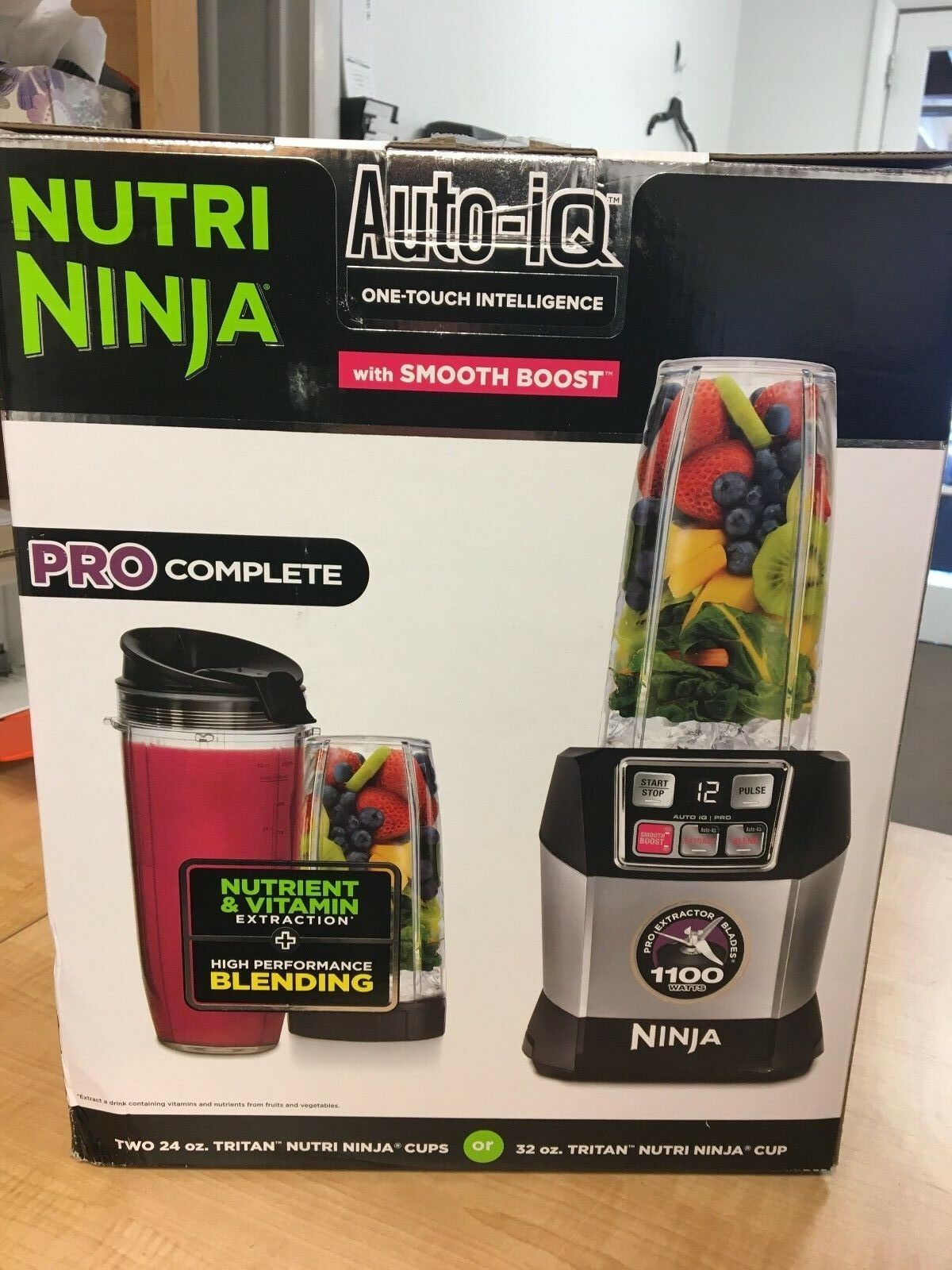 Nutri Ninja Auto iQ Pro Complete Personal Blender Extractor BL487T 21559038 MSGC