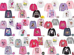 Girls-Kids-Disney-Character-Long-Sleeve-T-Shirt-Top-age-2-12-year-Xmas-gift