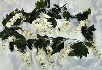 Wisteria Garland Light Ivory Cream Silk Wedding Flowers Arch Gazebo Decor