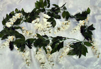 Wisteria Garland Ivory Cream Silk Wedding Flowers Arch Chuppah Decorations