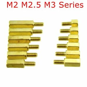 M2.5// M3 200x Male Female Brass Column Standoff Support Spacer Pillar Assortment