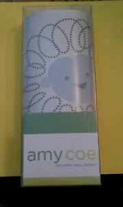NIB-AMY-COE-ZOO-BABY-WALL-DECALS-BLUE-FREE-SHIPPING