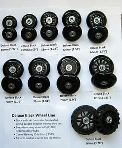 Replacement Luggage / Inline Skate Wheels - Set of (2) -- FREE ...