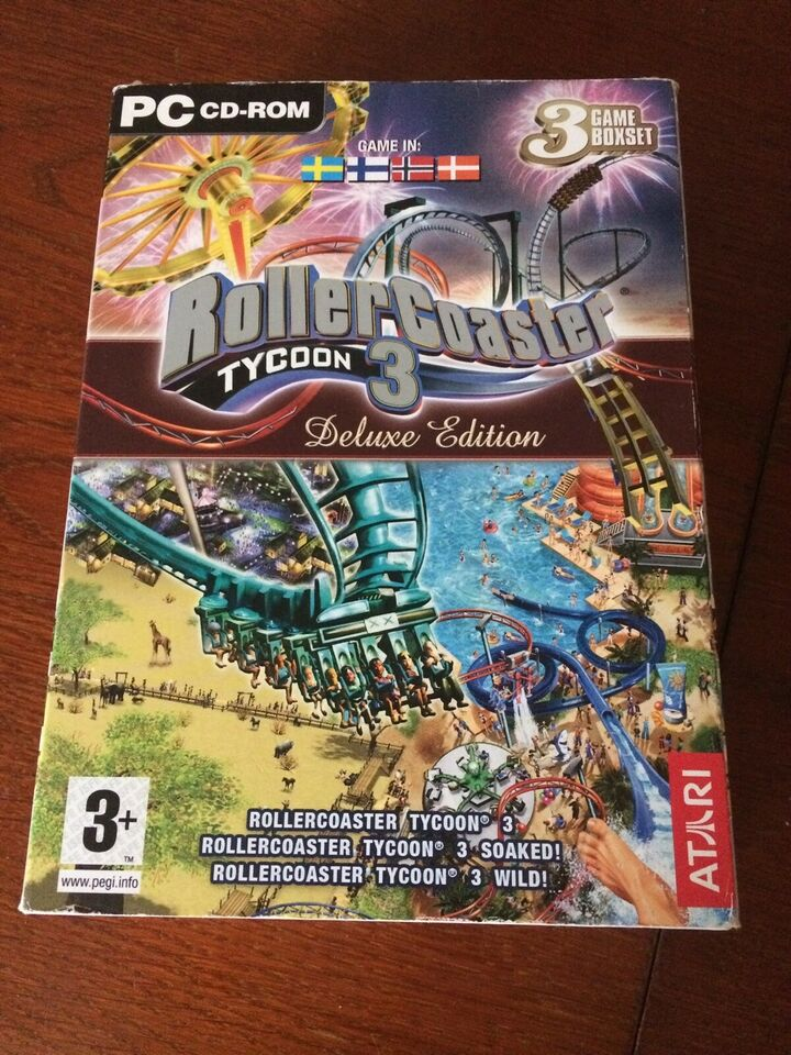 RollerCoaster Tycoon 3 Deluxe Edition + SeaWorld, til pc,