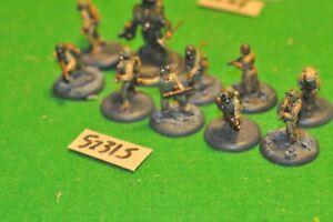 28mm I SEGRETI DEL TERZO REICH WW2 US 10 Fanteria in metallo (come foto) (52315)