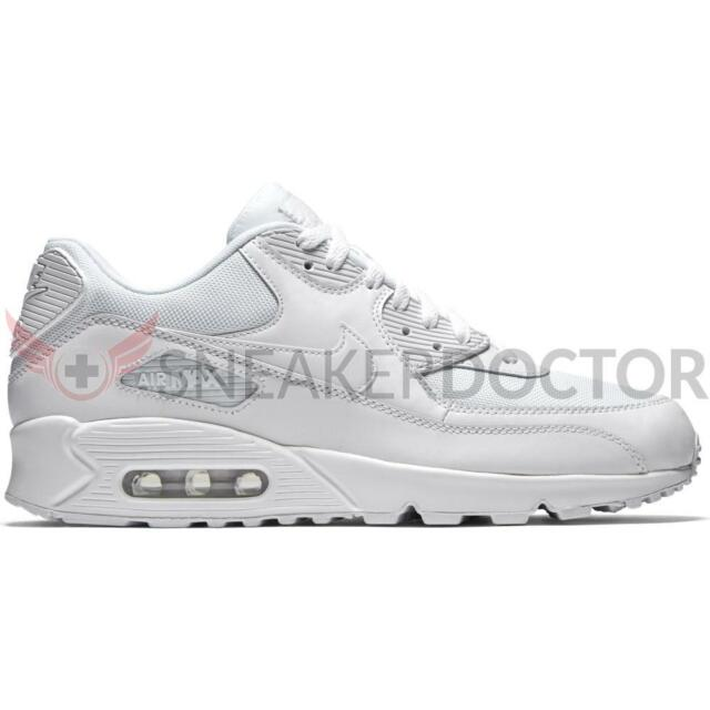 best sneakers 5e999 e398c New Nike Mens Air Max 90 Essential Running Shoes White White All Sizes