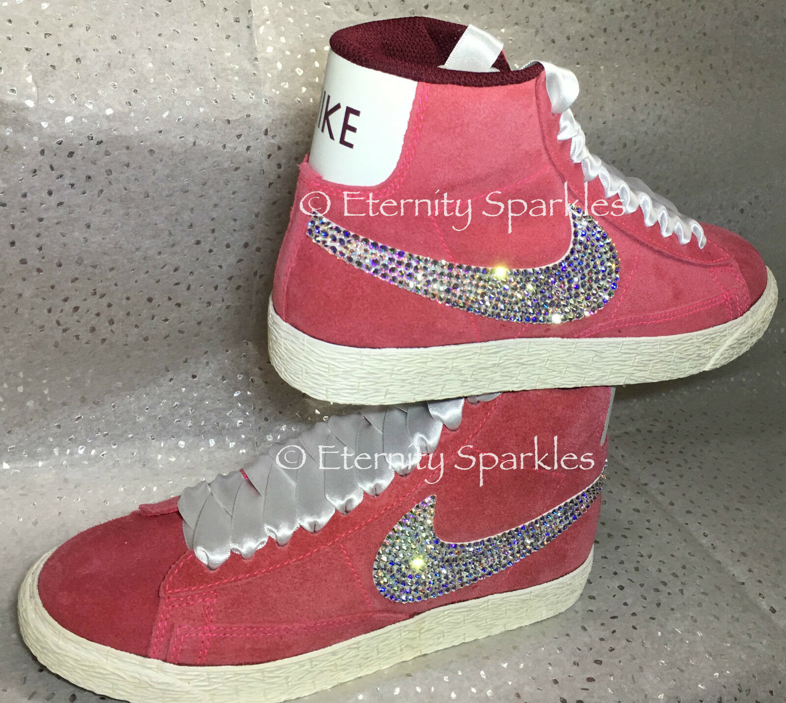 Customised Rose Pink Crystal SWAROVSKI Sparkle Nike Blazers Made With SWAROVSKI Crystal ELEMENTS e1c146