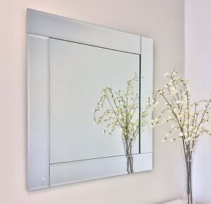 beveled overlay strip mirrors