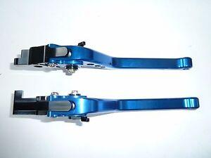SUZUKI HAYABUSA GSXR1300 LONG BLUE BRAKE & CLUTCH LEVERS SET RACE TRACK TS72