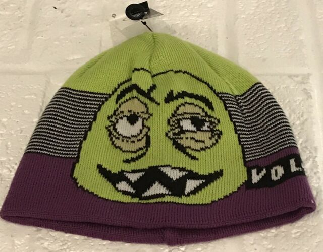 820123cd1bfd Volcom Faces Beanie F5831s0 PRP Snowboard Ski Stocking Cap Hat Youth One  Size