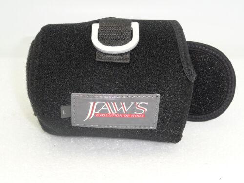 JAWS size L reel cover for Accurate ATD 12 Daiwa SA 50 Okuma 15II PENN 16 Black