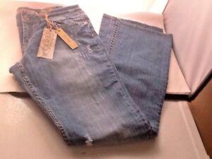 R-E-U-S-E-Women-039-s-Boot-Cut-Distressed-Jeans-31-x-35L-New-w-Tags