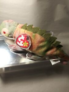 37a5c85622a RARE Ty Beanie Babies Iggy the Iguana Retired w Tag Errors Best ...