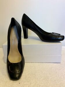 Sarto Leather Størrelse 6 Black Heels Brand New Sølv 39 Franco Trim RPqwEZI