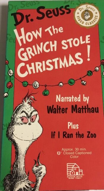 dr seuss how the grinch stole christmas vhs 1992 narrated by walter - How The Grinch Stole Christmas Vhs