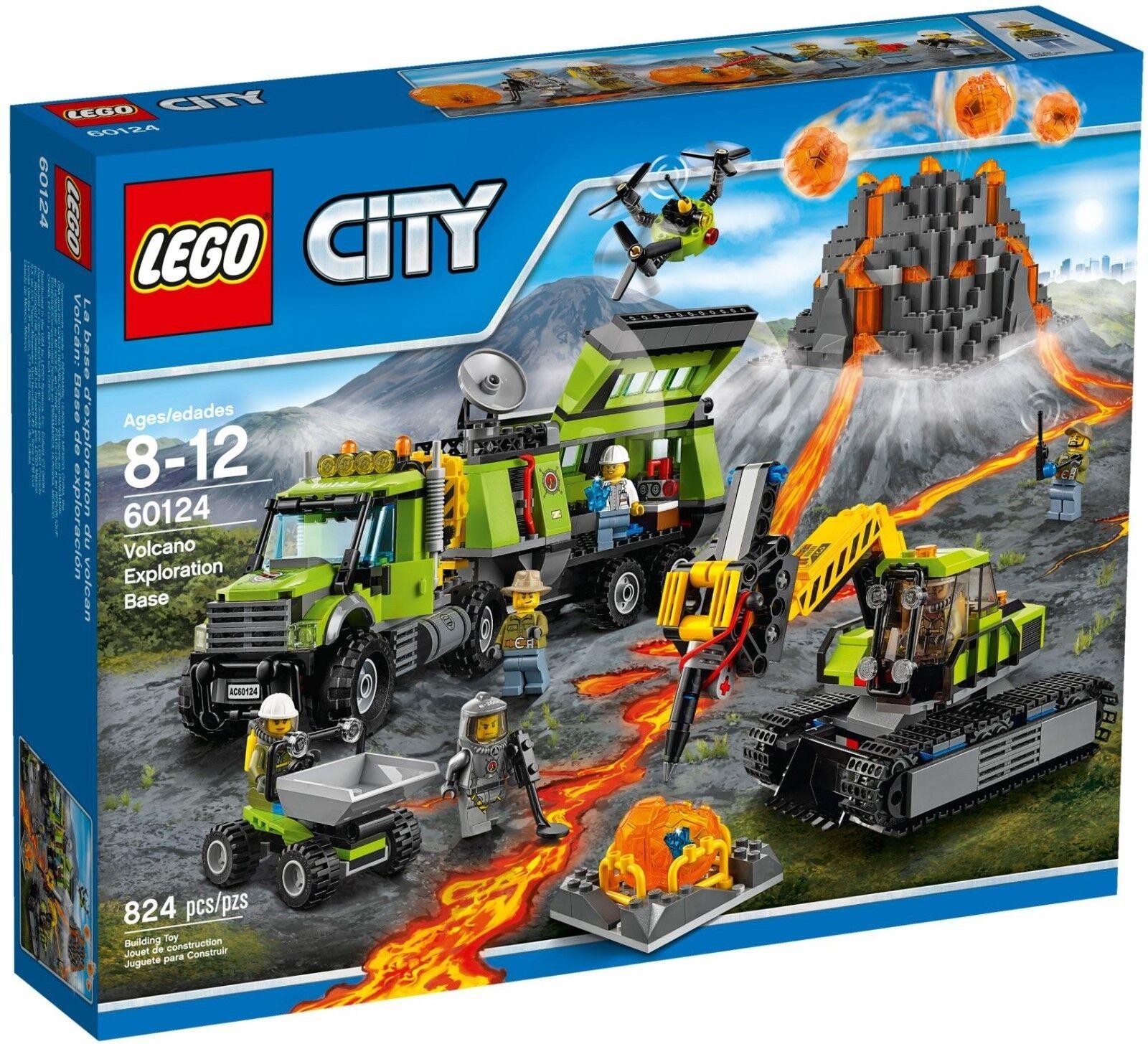 LEGO CITY VULCANO esplorazione base 60124 NUOVO IN SCATOLA SIGILLATA * lo stesso giorno spedizione *