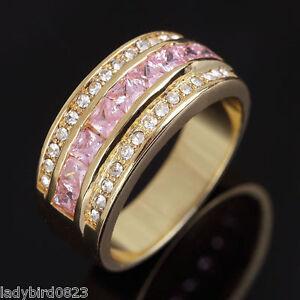 Ring-Gr-59-Fingerring-Gold-gefuellt-Herrenring-Siegelring-Goldring-Damenring