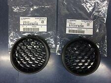 2008-2014 Subaru Impreza Left & Right Fog Light Cover Grilles BLACK OEM NEW SET