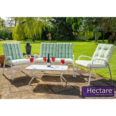 Hadleigh 4 Seater Garden Sofa Furniture Set with Coffee Table in Cream Hectare™