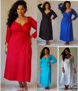 red-or-white-maxi-wrap-dress-jersey-designer-m-l-xl-1x-2x-one-size