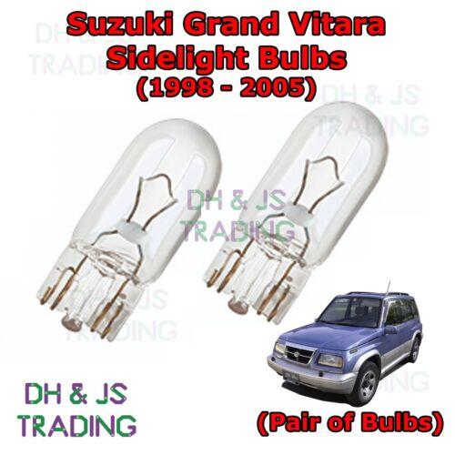 Park Lights Side Light Bulb Bulbs Suzuki Grand Vitara Front Sidelights 98-05