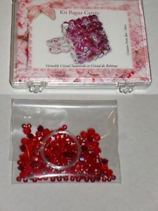 Détails sur kit bague carrée cristal swarovski et cristal de bohème