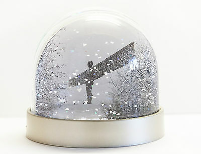 Snow Globe of the Angel of the North and Tyne Bridge, Snowing in Newcastle