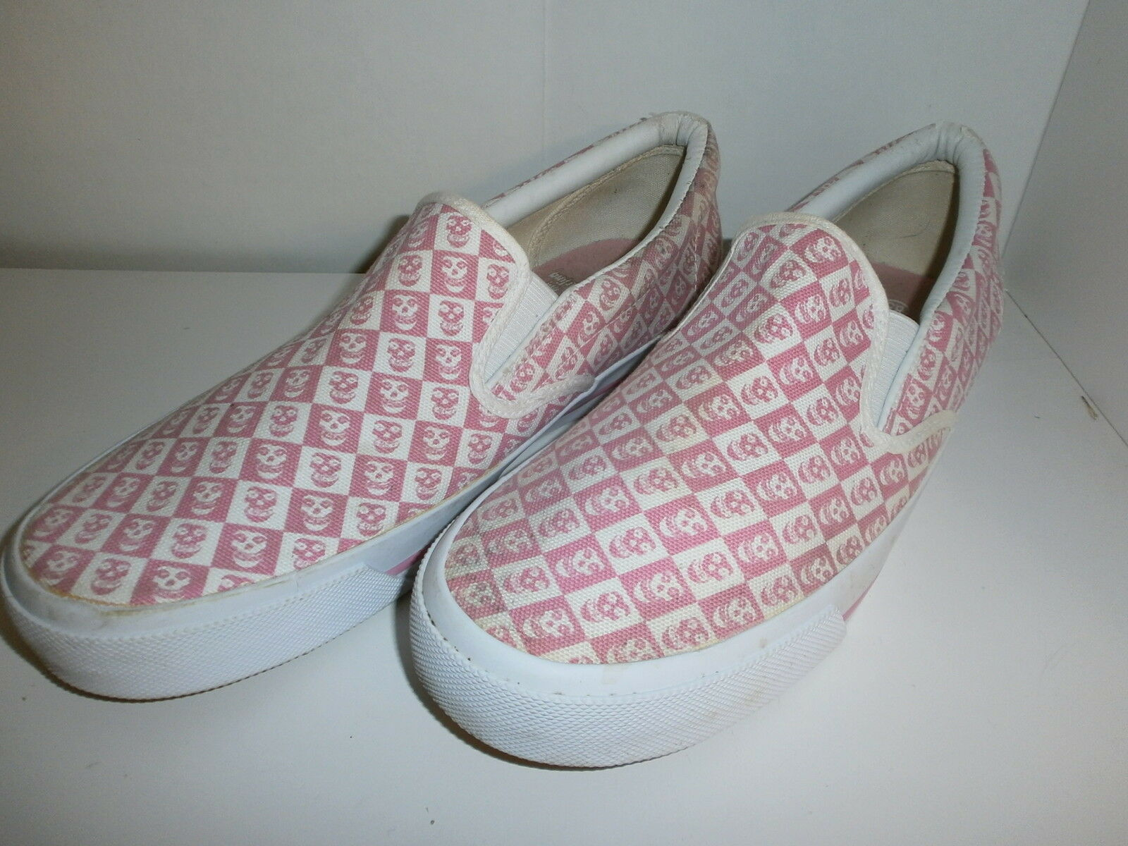 MISFITS DIE MY Pink DARLING TENNIS SHOES Skater Pink MY Checkerboard Skull Logo 8.5 c07e9a