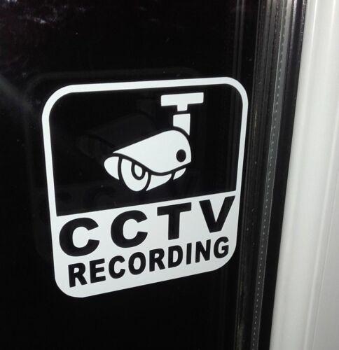 Set di 3 Registrazione CCTV TAXI Finestra Adesivi