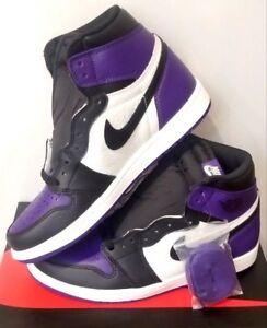 74169df175c 2018 Nike Air Jordan Retro 1 I High OG Court Purple Sail Black ...