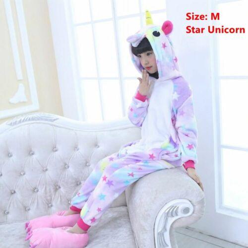 Kigurumi Animal Cosplay Costume Kids Pajamas Rainbow Pyjama Unicorn Sleepwear