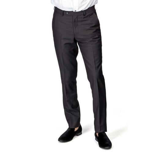 Men/'s Tailored Slim Fit Black Side VELVET Tuxedo Pants Dress Slacks By Azar Man
