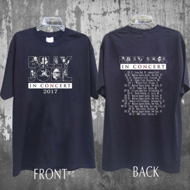 Billy Joel Shirt Concert Tour dates 2019 T-Shirt full size Men Black Gildan