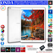 "ONDA V919 4G AIR GPS 2GHz OCTA CORE 32GB 9.7"" RETINA 4.4 ANDROID PHONE TABLET PC"