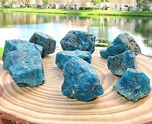 1-2LB-Natural-Rough-Blue-Apatite-Gemstone-Crystal-Quartz-Specimen-Reiki