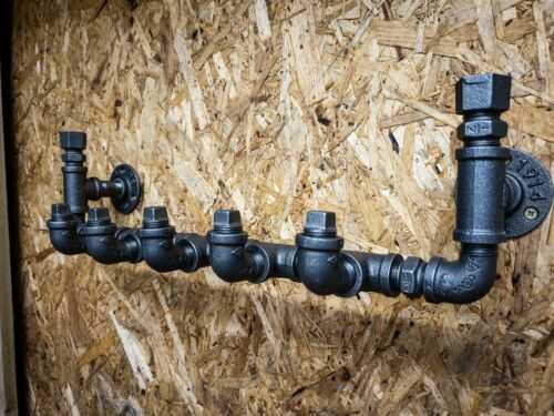 vintage steampunk Iron pipe Industrial Rustique Manteau Rack Hanger ou crochets