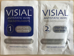 10 x DISPALY CLEANING | VISAL ANTISTATIC WIPES FOR INSTRUMENTS | NEU |